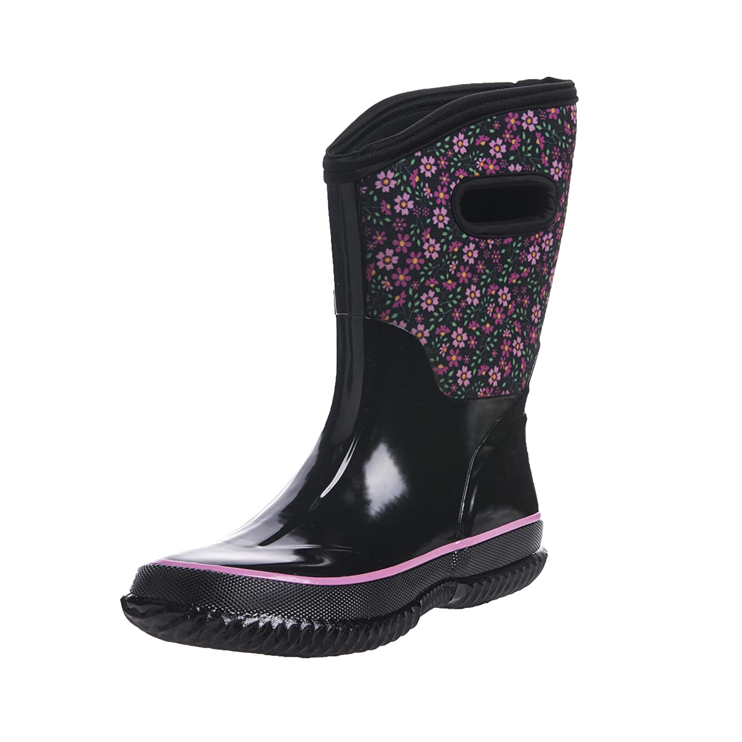 d48fc76db3a9 Amazon.com | WTW Women's Floral Wide-Calf Neoprene Insulated Rubber Rain  Snow Boots for Ladies, Mid-Calf Thick-Sole Warm Winnter Waterproof Women  Barn Boots ...