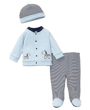 Amazon.com  Little Me Boys  3-Piece Cardigan   Hat Set  Clothing 3d83fe8420ff