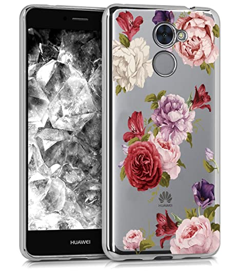 lowest price c1e2b 78cb0 BAISRKE Huawei Ascend XT2 Case, Huawei Y7 Prime Case with Flowers Slim  Shockproof Clear Floral Pattern Soft Flexible TPU Back for Huawei Y7 ...