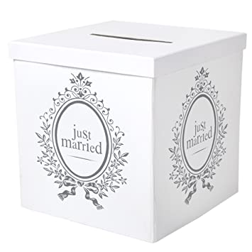 Just Married Hochzeit Geschenkebox Umschlagbox Kiste Amazon De Baby