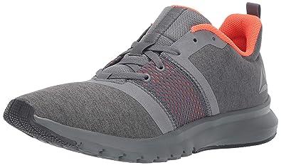 Reebok Men s Print Lite Rush Running Shoe Alloy Coal Atomic red 7 ... d5c2b776e