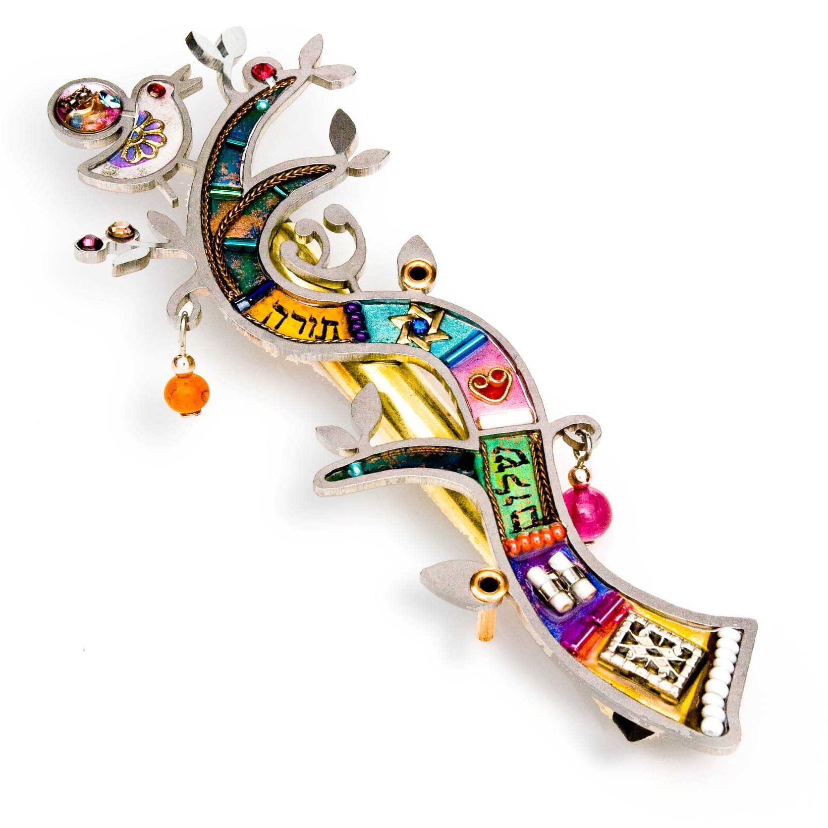 Seeka Tree of Life Mezuzah Curated and sold by The Artazia Collection M0934