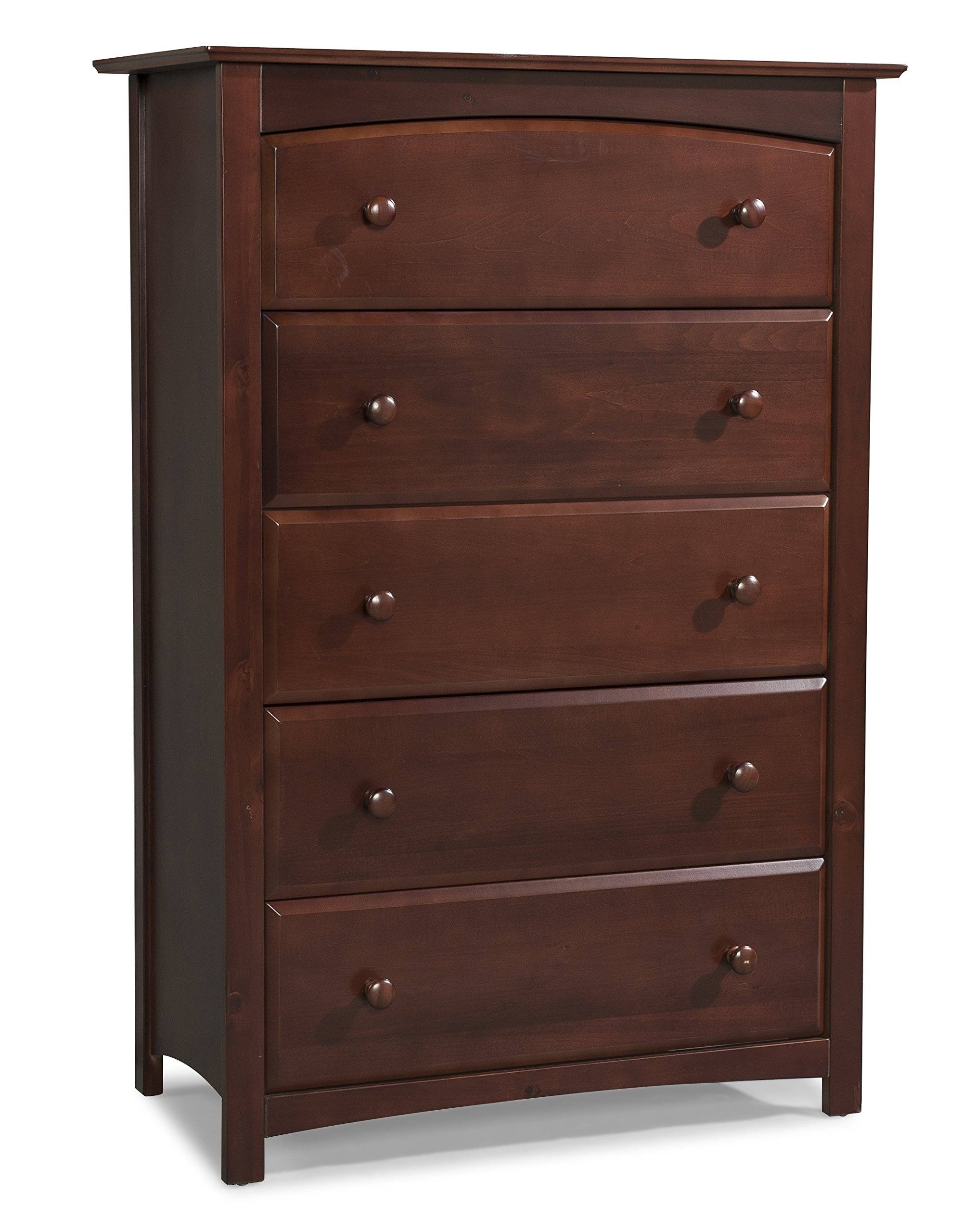 Stork Craft Kenton 5 Drawer Universal Dresser, Cherry