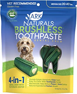 product image for Ark Naturals Brushless Toothpaste, Dog Dental Chews for Medium Breeds, Vet Recommended for Plaque, Bacteria & Tartar Control