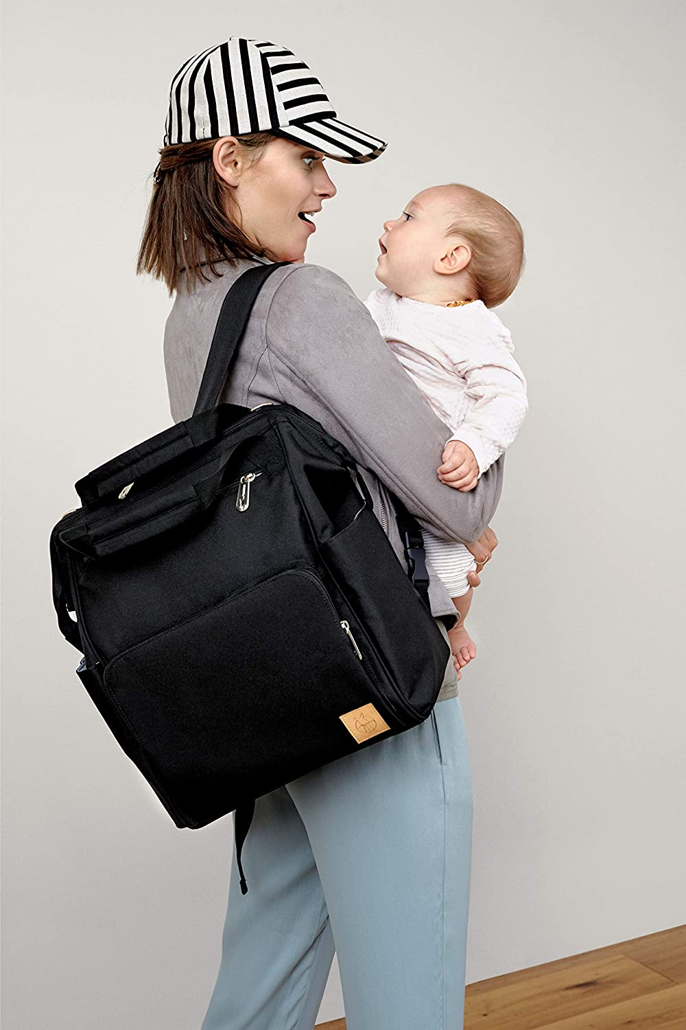 Amazon.com : Lässig Goldie Glam Diaper Bag -Travel Backpack- Multi-Functional and Lightweight for Both Baby and Kids Care-Stylish and Durable - Black : Baby
