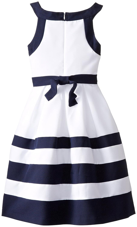 ce8663c3daed Amazon.com  Bonnie Jean Big Girls  Nautical Banded Dress