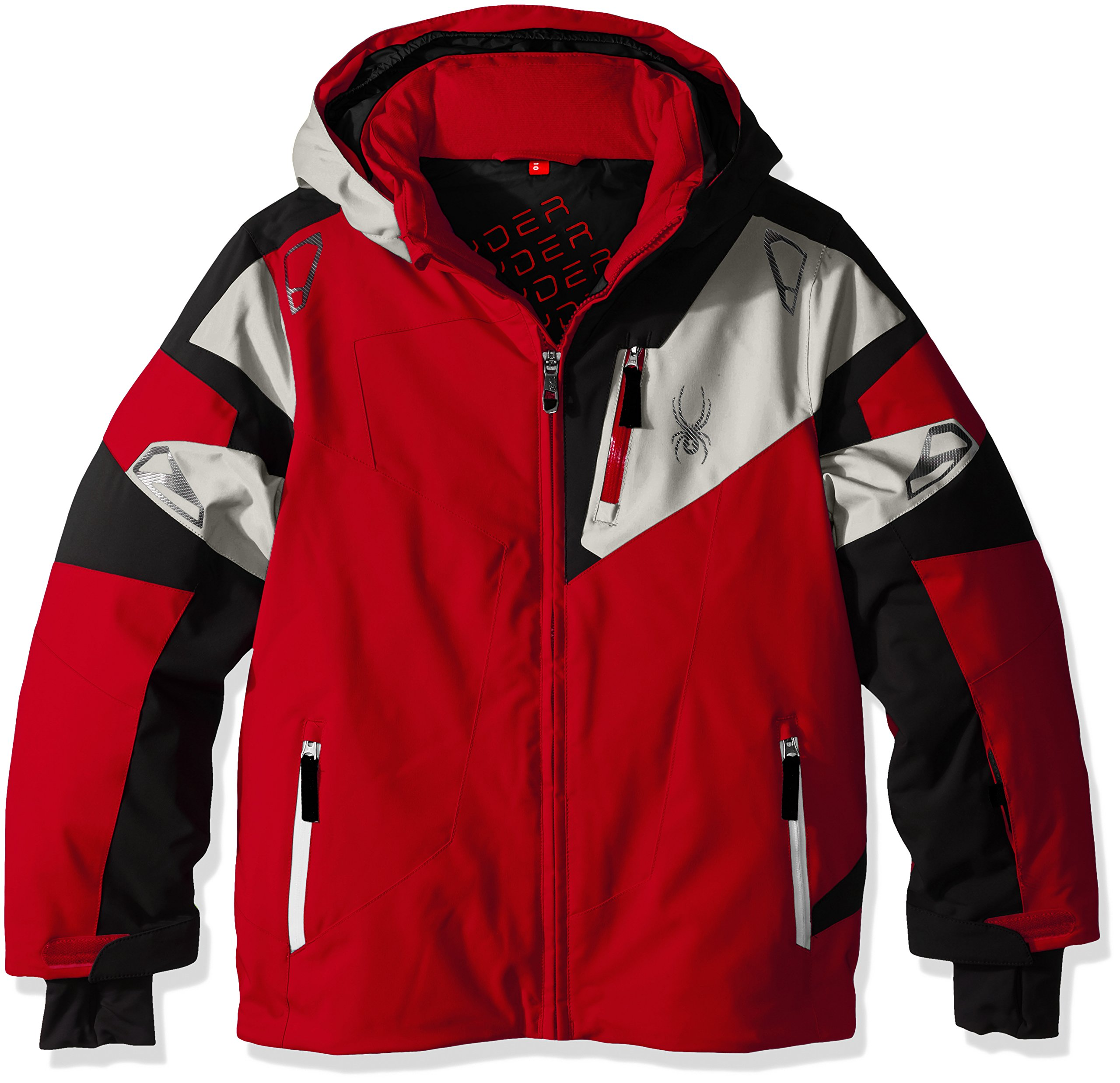 Spyder Boys Leader Jacket, Size 16, Formula/Black/Cirrus