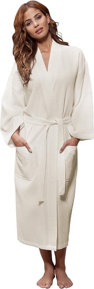 Turquaz Linen Lightweight Long Waffle Kimono Unisex Spa Robe One Size Beige At Amazon Women S Clothing Store