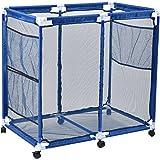 AOBEN Pool Storage Bin, Rolling Pool Storage Mesh Basket Organizer, Large Capacity Swim Accessories Holder for Pool Balls, No