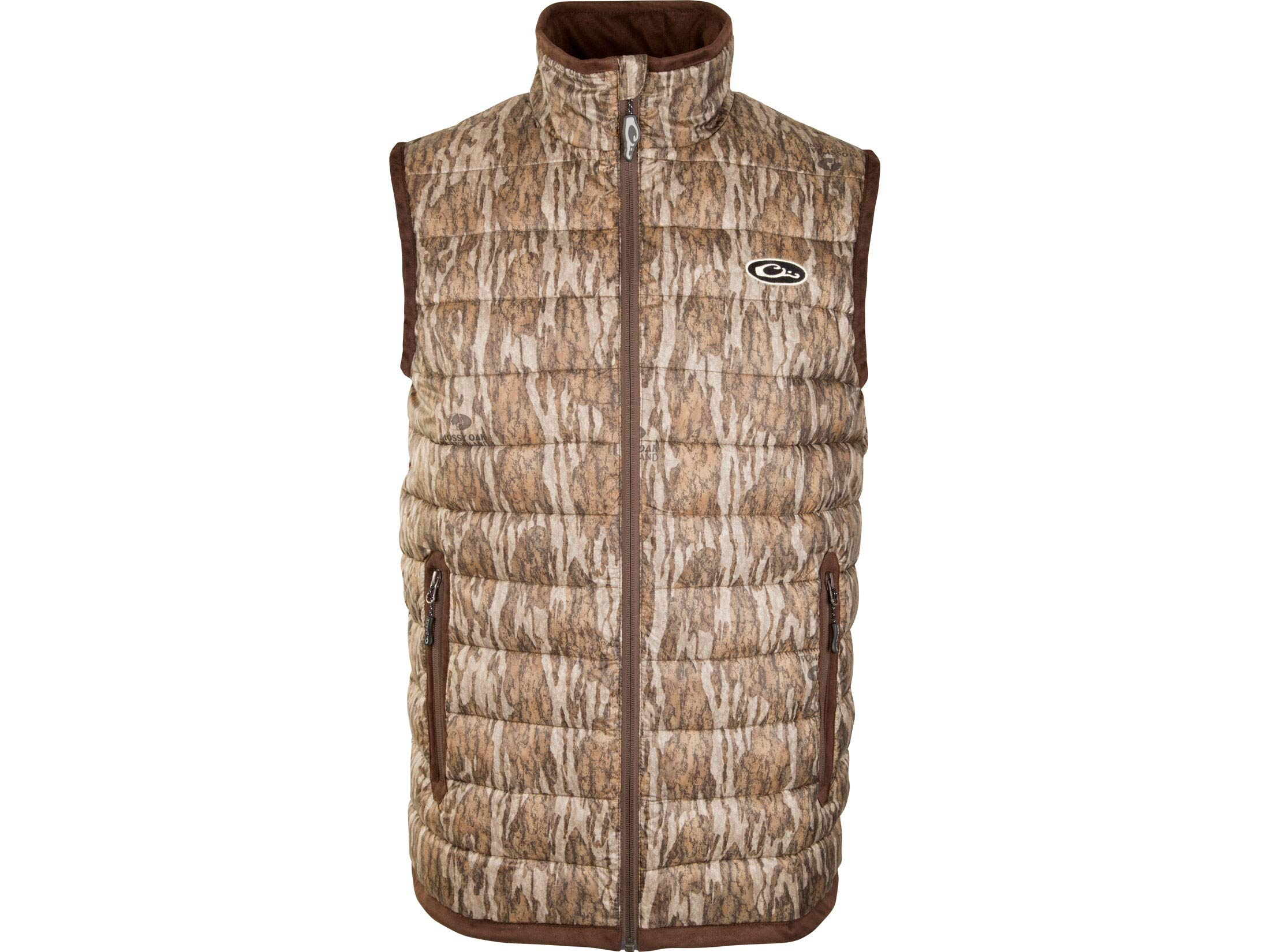 Drake Men's Camo Double Down Endurance Layering Vest Polyester Mossy Oak. by Drake