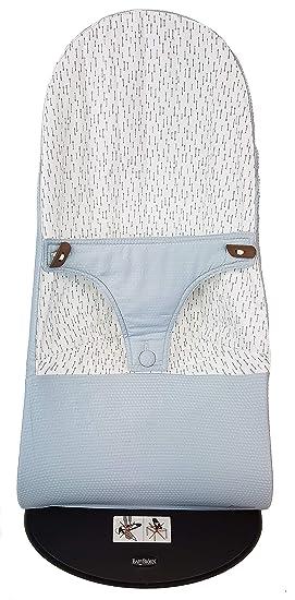Funda para Hamaca BabyBjörn Balance Soft Reversible (Sustituye tapicería original) Arrows azul grisáceo empolvado