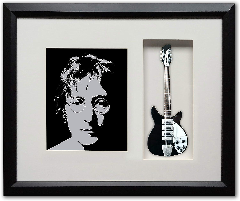 Amazon Com Fan Merch Beatles John Lennon S Ed Sullivan Show Guitar In A Custom Framed Shadow Box Photographs