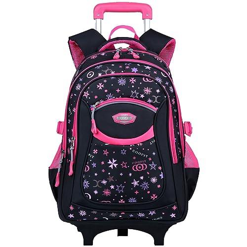 Children S School Bags With Wheels Amazon Co Uk