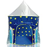Rocket Ship Play Tent for Boys – Rocket Ship Tent, Astronaut Space Tent for Kids w/ Projector Toy for Indoor Outdoor Kids Pop Up Rocket Tent Fort