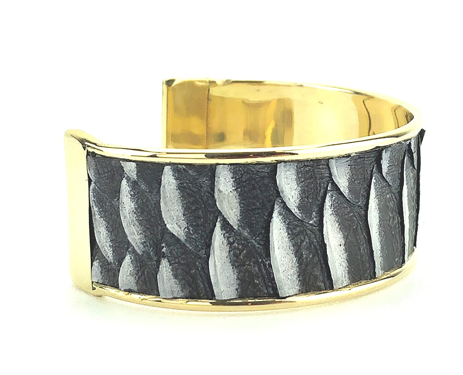77e2f4d59f1 Amazon.com: INDO Genuine black/white Python Snakeskin Bracelet: Jewelry