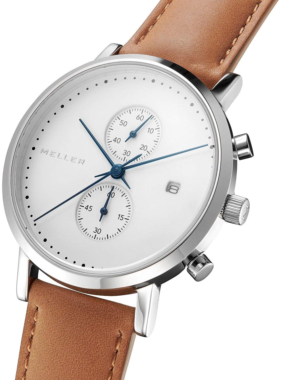 Meller Reloj Analógico para Unisex Adultos de Cuarzo con Correa en Acero Inoxidable 4NN-2BLACK: Amazon.es: Relojes