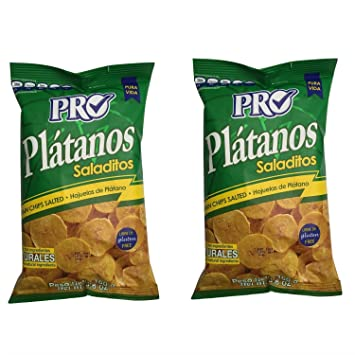 2 Pack Plantain Chips PRO Plátanos Saladitos - 5.6 ounce each - Gluten Free
