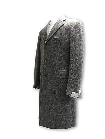 Pal Zileri Wool Overcoat in Grey Herringbone Size 40R Wool: Amazon.es: Ropa y accesorios