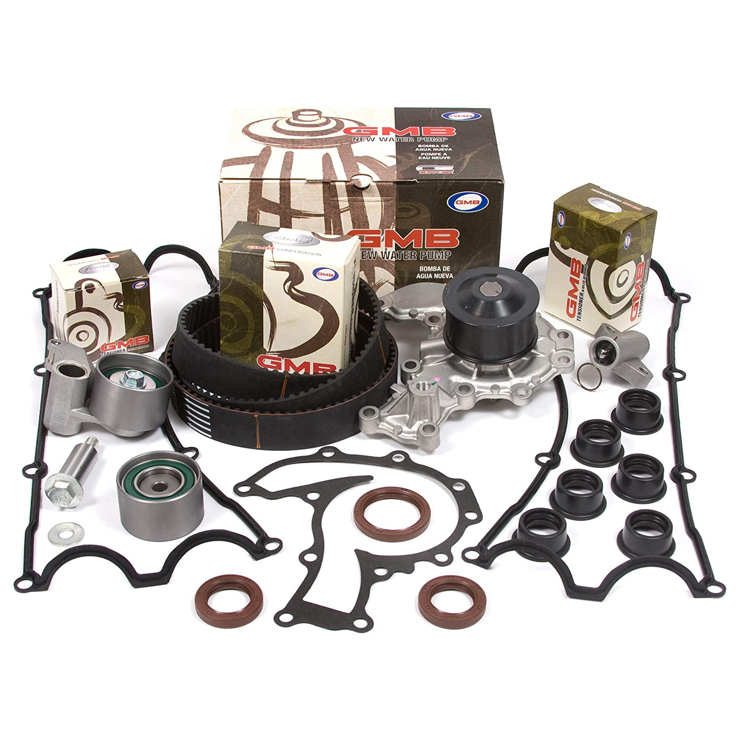 Fits 98-03 Acura Honda Isuzu 3.2 DOHC 24V 6VD1 3.5 DOHC 24V 6VE1 Timing Belt Kit w//Hydraulic Tensioner GMB Water Pump Valve Cover Gasket