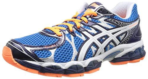4751680ee1f1 ASICS Men s Gel Nimbus 16 Running Shoes-Blue White Black Orange ...
