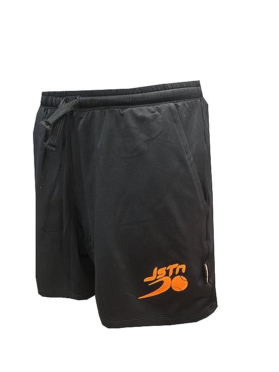 Pantalón Padel Just Ten Hombre Andy-Negro/Naranja Fluor-XL: Amazon ...
