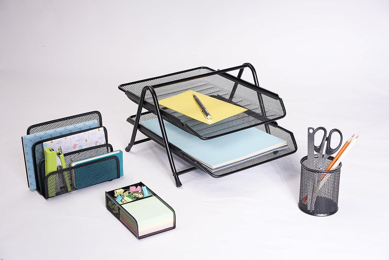 Exerz Desk Organiser//Mesh Desk Tidy//Pen Holder//Multifunctional Organizer EX348 Turquoise