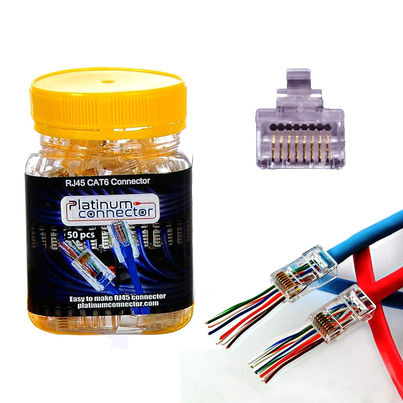 Modular Connectors Ethernet Connectors RJ45 Connector 100 pieces
