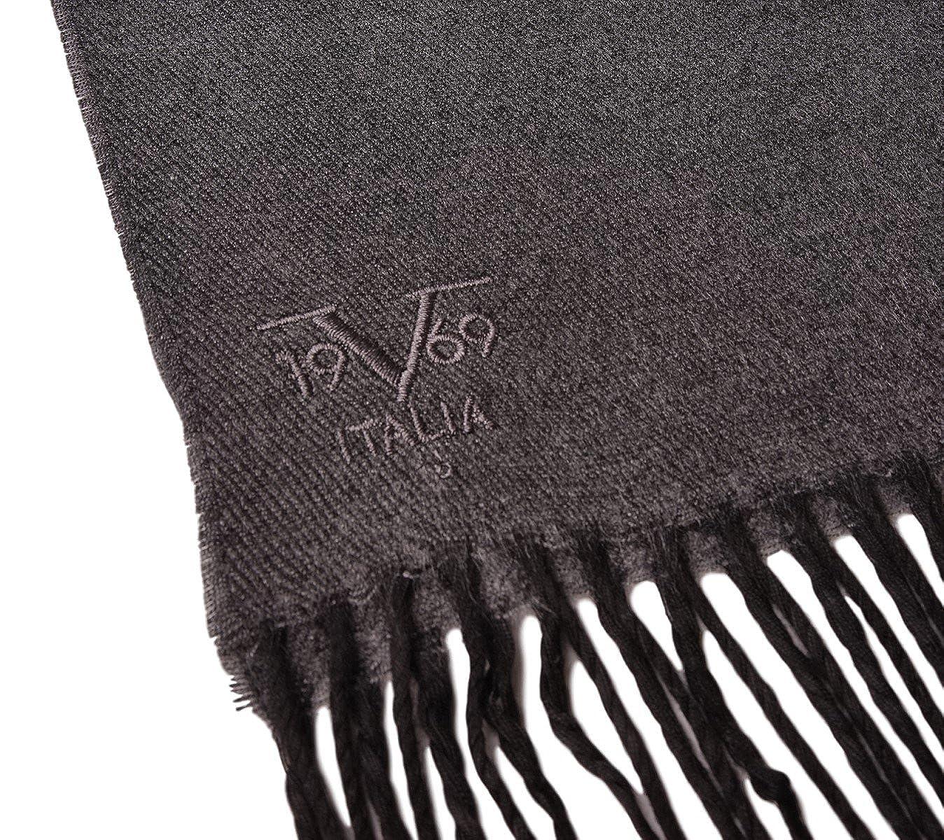 V1969 by Versace 19.69 Echarpe Homme Cachemire laine viscose chaude douce  avec sa pochette cadeau couleur Anthracite  Amazon.fr  Vêtements et  accessoires 9c1db7da38fe