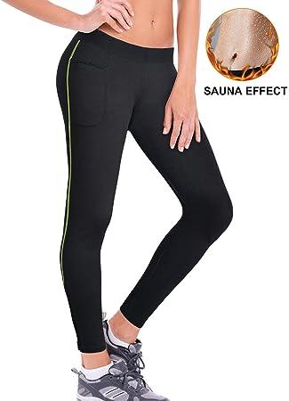 b5b8d83695cc9 ZEAVOR Women s Sauna Sweat Leggings Neoprene Hot Shaper Slimming Pants with  Zip   Pockets for Weight
