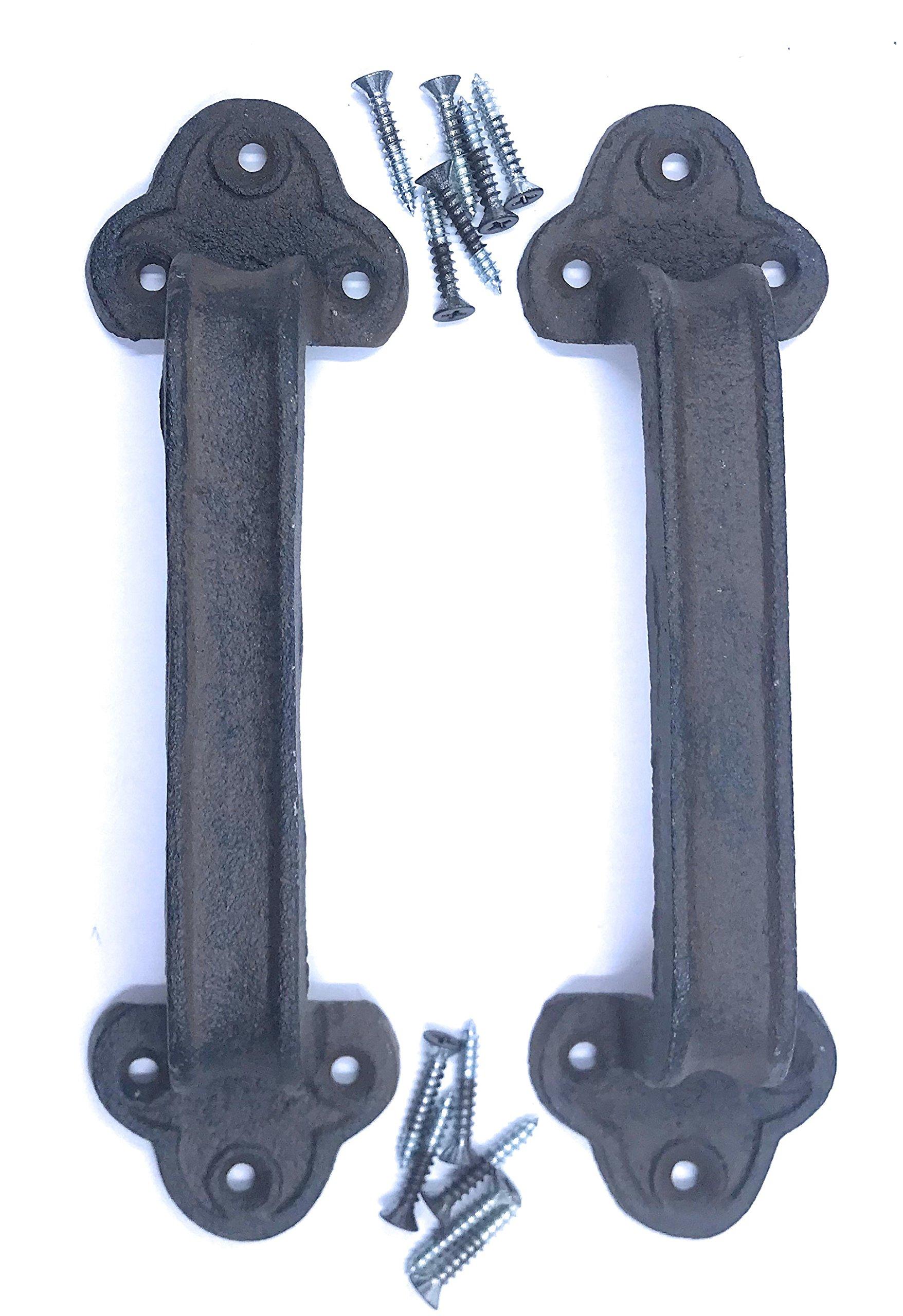 Cast Iron Gate Door Handle Pull for Wood Door or Fence