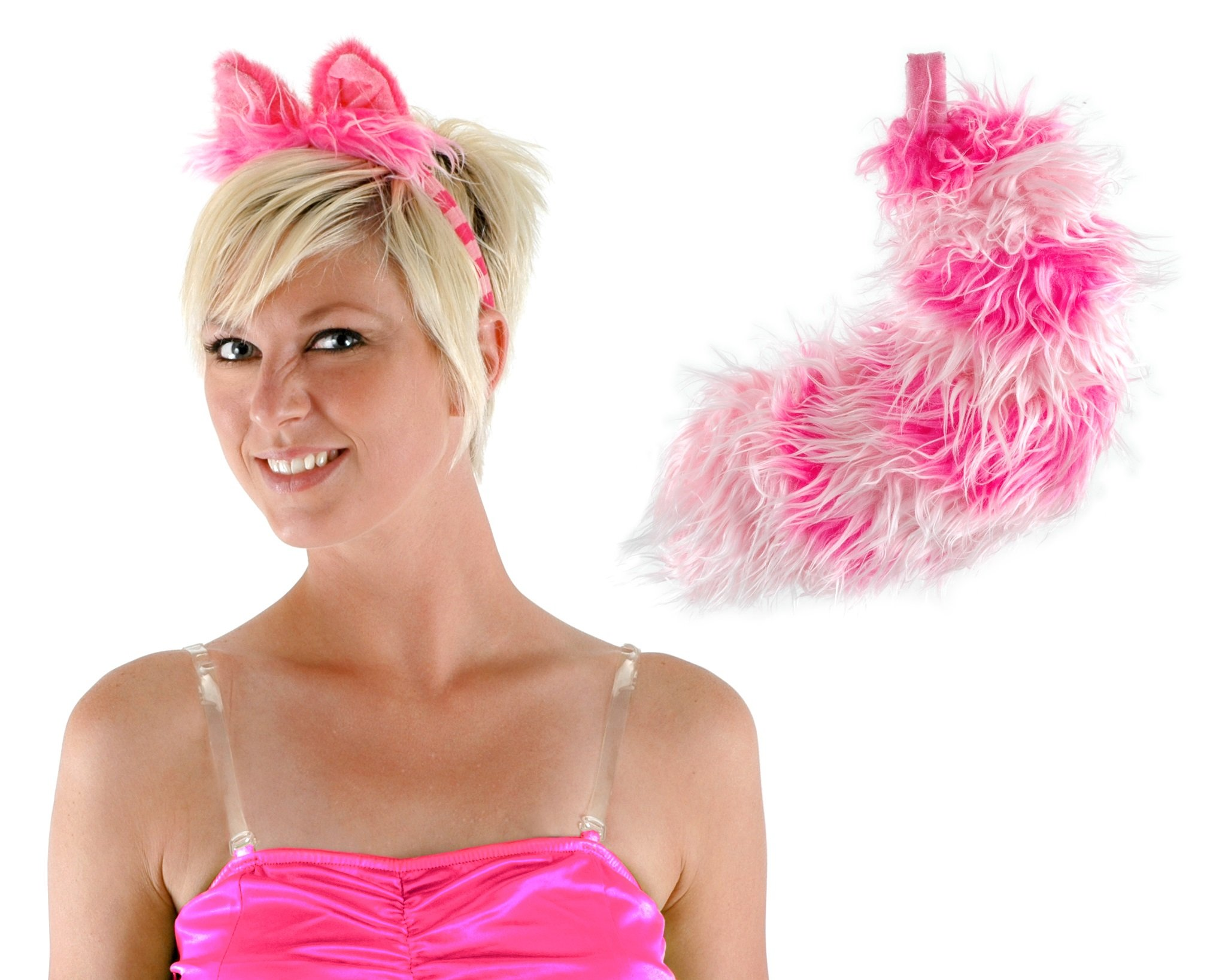Elope Cheshire Cat Pink Costume Ear Headband and Tail Set