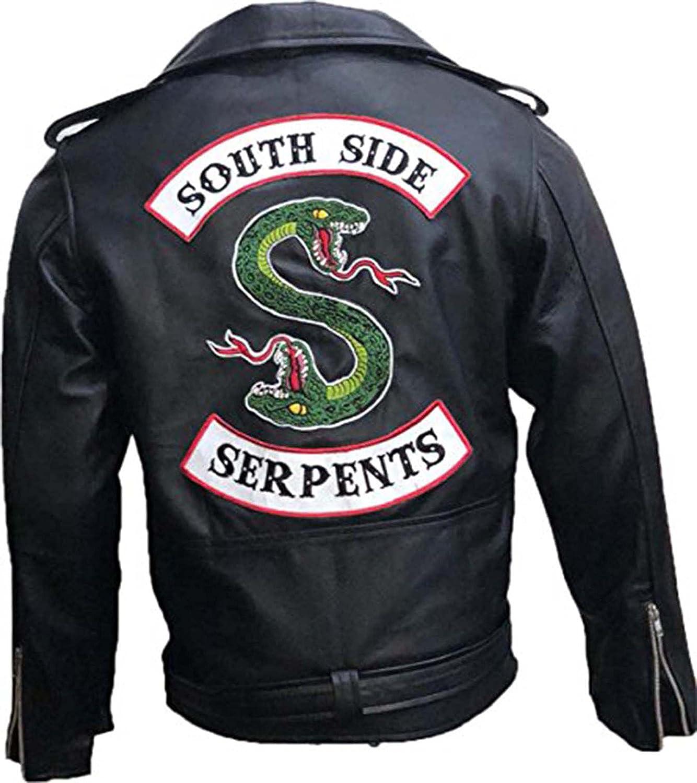 Riverdale Southside Serpents Gang Biker Black Leather Jacket Premium Leather Products