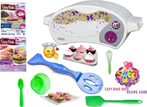 Easy Bake Ultimate Oven Baking Star Edition + 2 Oven Refill Mixes + 2 Sweet Treats Tasty Oven Recipes + Mixing Bowl, Spoon, Whisk, Spatula (8 Total Items)