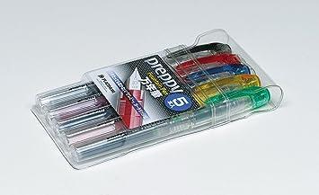 PLATINUM - Pluma Estilográfica / Fountain Pen Preppy 5 Colors Set Fine 03: Amazon.es: Oficina y papelería