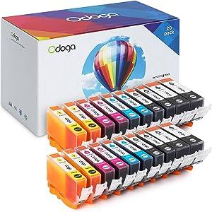 Odoga Ink Cartridge PGI-225XL PGI-225 CLI-226XL CLI-226 High Yield Combo Pack Replacement MG5220 MG5320 MG6220 MG6120 MG8120 iP4820M MX892 MX895 MX882 [4 XL Black 4 Black 4 Cyan 4 Magenta 4 Yellow]