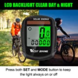 Bicycle Pedometer Odometer Solar Power