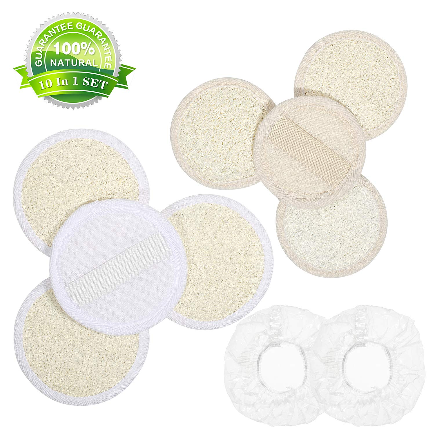 Amazon Com Exfoliating Loofah Sponge Face Loofah Pad 100