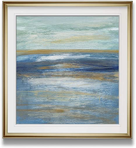 Amazon Com Renditions Gallery Tuscan Shore I By Susan Jill Contemporary Artwork Beach Prints Blue Art Framed Giclee Home Wall Decor Painting 16 X 16 Gold
