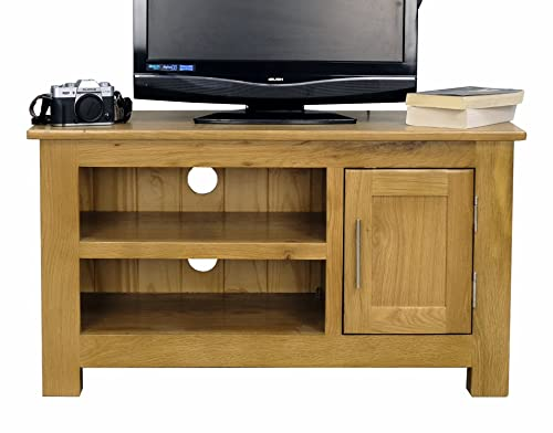 roseland furniture london oak light lacquered small tv unit beige kitchen home. Black Bedroom Furniture Sets. Home Design Ideas