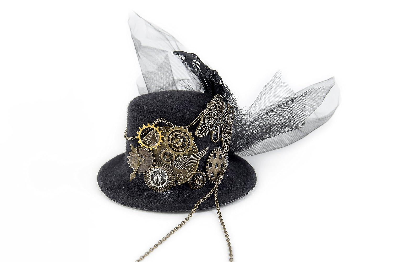 dream cosplay Gotico Donne Steampunk Cappello in Pizzo Molletta Copricapo 8a287279898d