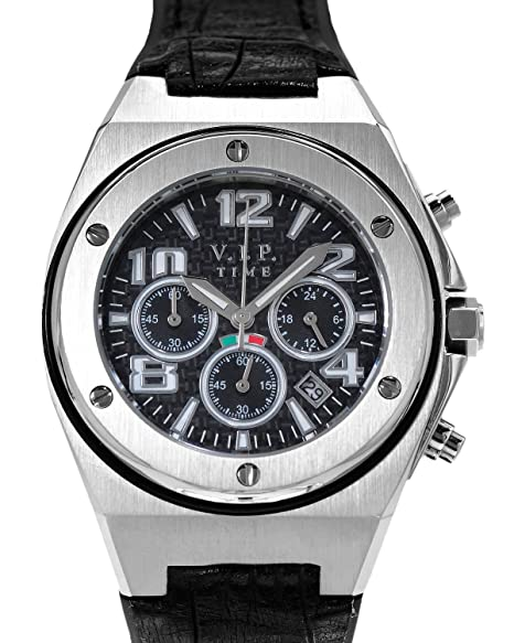 reloj VIP Italy reloj VP4001ST Fecha Cronografo Movimiento de cuarzo hombres mujeres: Amazon.es: Relojes
