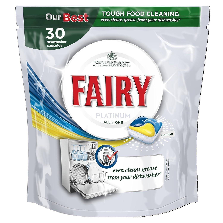 Fairy Platinum - Pastillas para lavavajillas (30 lavados, 2 ...