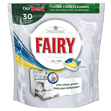 Fairy Platinum All In One Lemon Dishwasher Tablets, 30 Washes   Pack Of