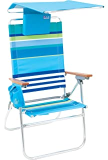 Rio Brands Hi Boy Beach Chair With Canopy And Pillow