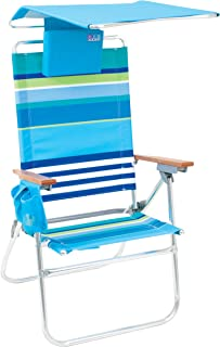 Rio Brands Hi-Boy Beach Chair with Canopy and Pillow  sc 1 st  Amazon.com & Amazon.com : DELUXE CANOPY CHAIR by JGR Copa (S16A) : Sports ...