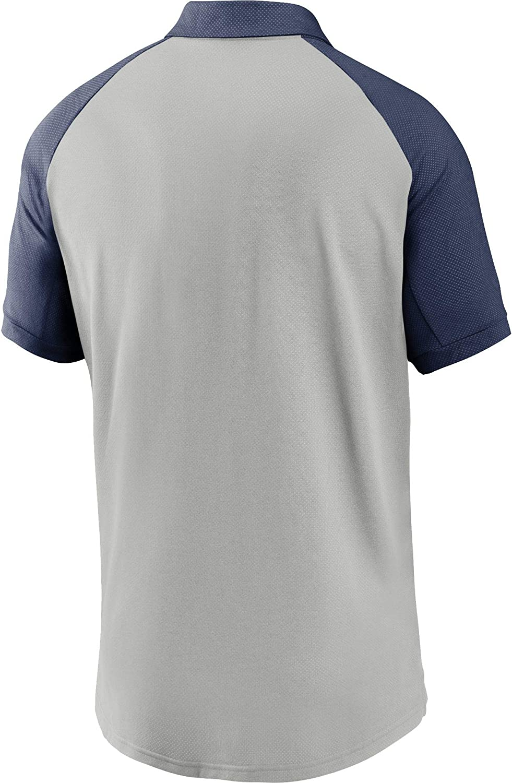 Nike Mens New York Yankees Grey Dri-FIT Legacy Raglan Polo