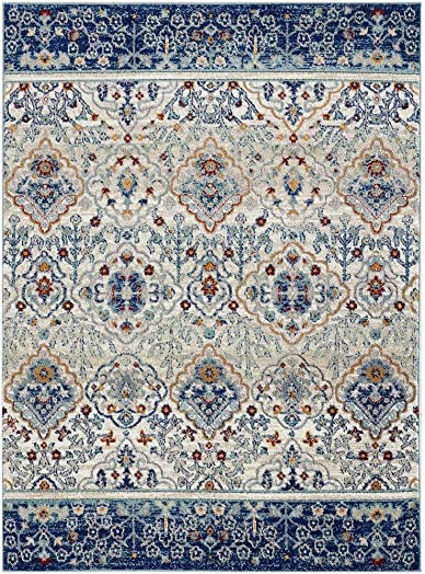 Luxe Weavers Transitional Blue 8x10 Area Rug