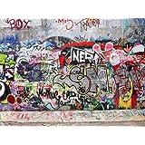 wandmotiv24 Fototapete Graffiti 3 KT27 Größe: 400x280cm Tapete Graffiti Urban Street Art