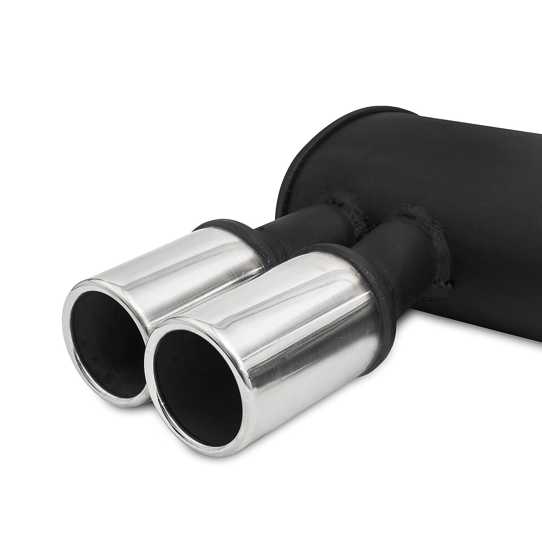 /à aprtir de 2007- Qualit/é Allemande JOM 89081 Compatible avec BMW E90 // E91 // E92 // E93 N43 316i 100Kw// 318i 105Kw // 320i 125Kw Silencieux arri/ère//Pot d/échappement certifi/é ABE