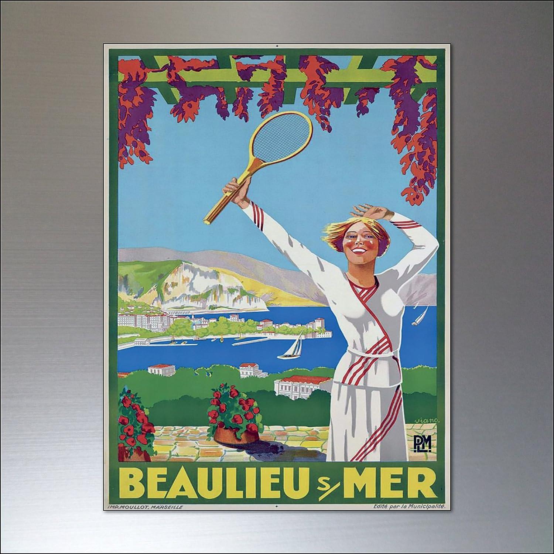 Tennis vintage sports posters fridge magnets set of 8 /…